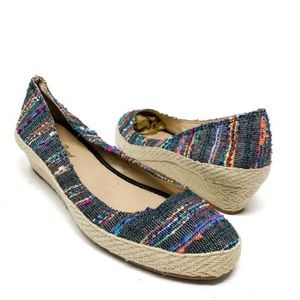 Lucky Brand Tilly Espadrille Wedges Size 7